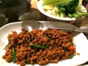 南タイ料理のクアクリン・ムーサップ