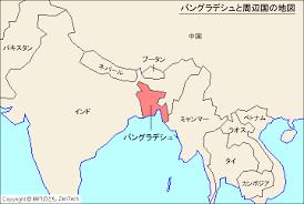 バングラディシュの地図