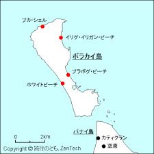 ボラカイ島の地図