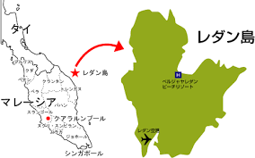 レダン島の地図
