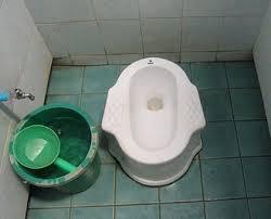 タイの伝統的なトイレ