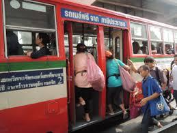 バンコクの市内バス