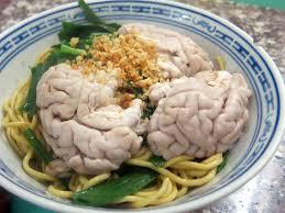 ミャンマー料理、豚の脳みそラーメン