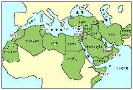 イスラム世界の地図