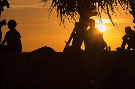 夕日を眺める幸せ