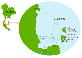 パンガン島の地図