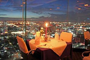 バンコクの高層ビルで夜景を観ながら食事ができるホテル