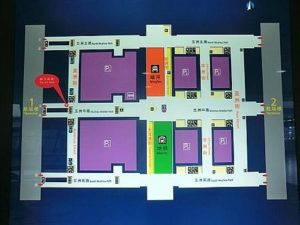 上海の浦東国際空港内の地図