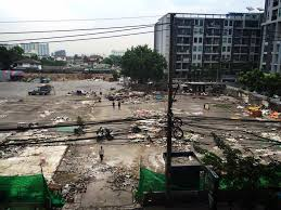 バンコクの屋台地帯が閉鎖されていく