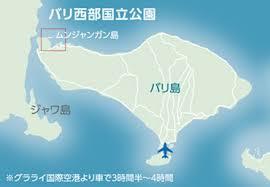 バリ西部国立公園の地図
