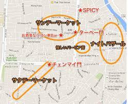 チェンマイのマーケットマップ