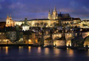 プラハ城夜景の写真