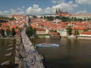 チェコの美しい町並み城下町