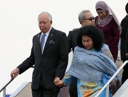 ナジブ首相とロスマ夫人