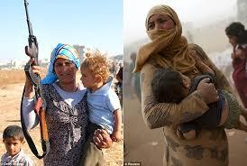 シリア国内で紛争に巻き込まれ、難民とならざるを得ないクルド人