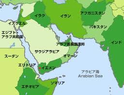 中東イエメンの地図