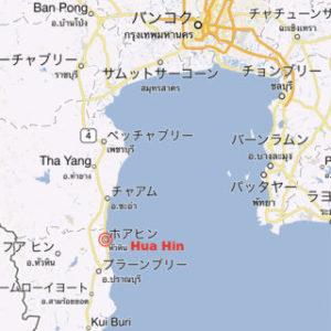 タイのリゾート地ホアヒンの地図