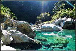 慕谷慕魚は台湾の秘境の地