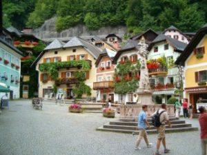 世界遺産ハルシュタットの美しい町の写真