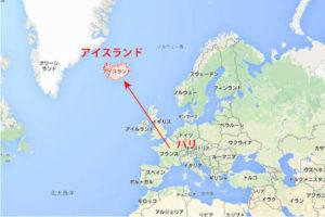 アイスランドの地図