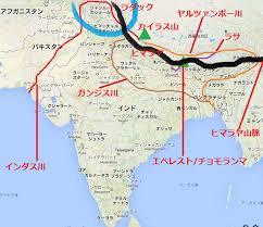 インド、ラダック地方の地図