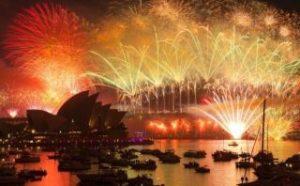 世界一のカウントダウンショーはオーストラリアのシドニー