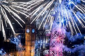 イギリスロンドンの大晦日カウントダウン花火イベント