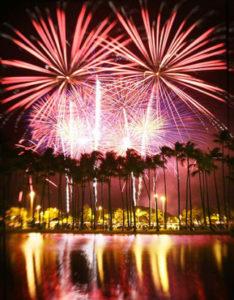 ハワイの年越しカウントダウン花火イベント