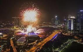 シンガポールのカウントダウン花火イベント